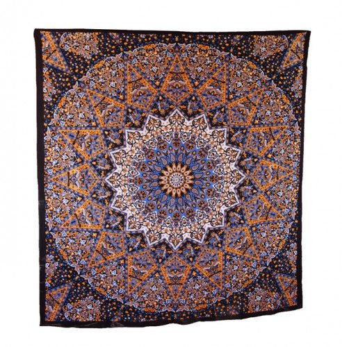 Beautiful Psychedelic Star Mandala Tapestry