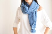 scarf,handknitt,scarves,birthday,handmade,blue,women fashion