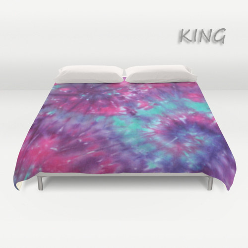 Duvet Cover Comforter Cover Tie Dye Bedding Spiral Purple