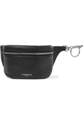 belt bag bag leather black