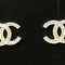 Chanel: 2014 chanel cc crystal earrings gold classic stud new authentic | malleries