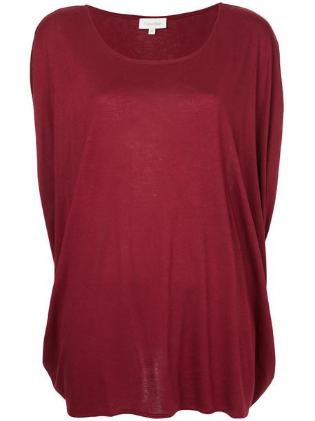 Ck Calvin Klein t-shirt shirt t-shirt women draped red top