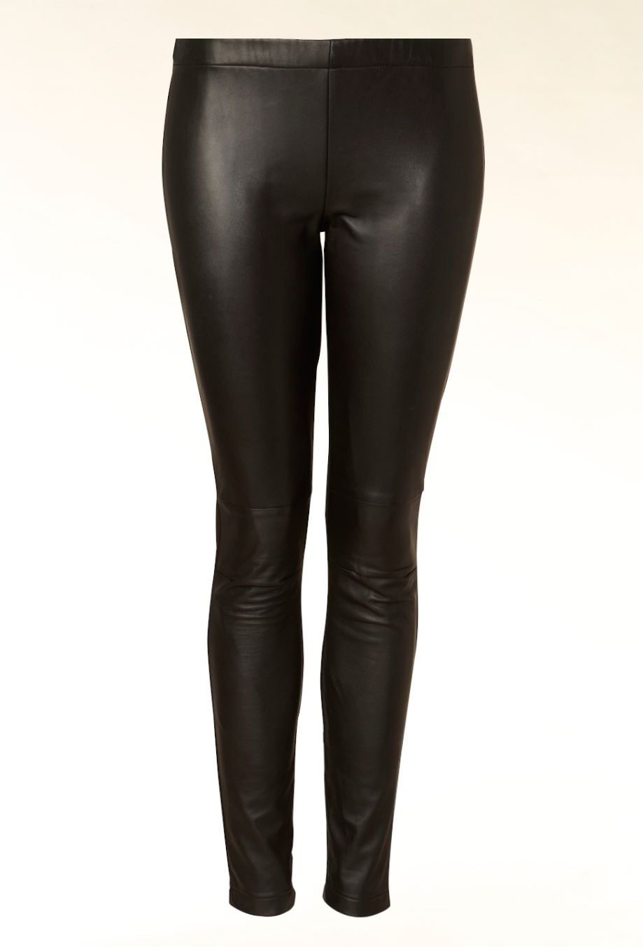 Hallhuber Leather Front Leggings Black House Of Fraser
