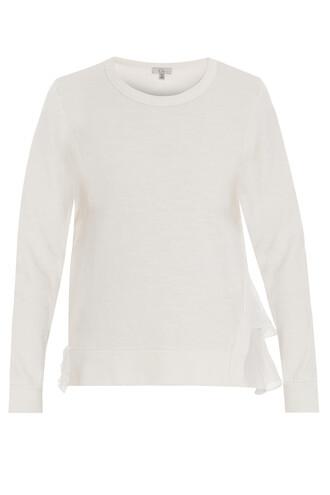 sweatshirt asymmetrical beige sweater