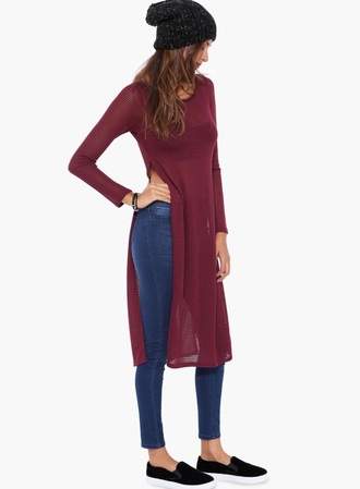 tunic slit side slits in sides maxi dress slit dress slit maxi jeans beanie burgundy black shoes slit top