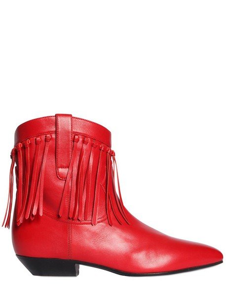 boots leather boots leather red shoes