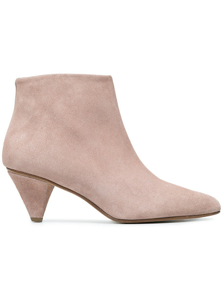 suede ankle boots fur women ankle boots leather nude suede shoes