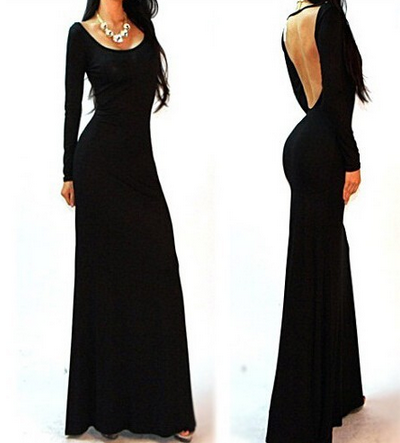 SexHalter-sleeved Bdaycon Maxi Dress