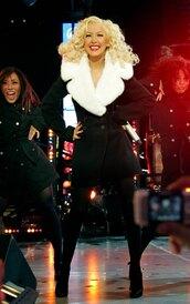coat,winter coat,black and white,faux fur jacket
