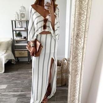 top striped dress striped shirt striped skirt striped top white top white skirt tumblr outfit cute top dress