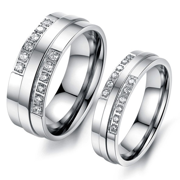 Customized Affordable Titanium Wedding Bands For Men And Women Personalized  Couples Gifts | His Her Necklaces And ...
