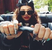 jewels,bindi,jewelry,stone,ring,sunglasses,choker necklace,necklace,cap,hat,snapback,lipstick,red,eyebrows,nails,nose ring,velcro,style,swag,hippie,red lipstick