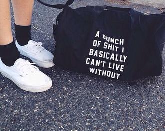 bag duffle bag sportsbag grunge soft grunge alternative offensive pale tumblr bag shit