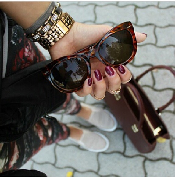 jewels watch sunglasses rings necklace bag style shoes nail polish beautiful leggins
