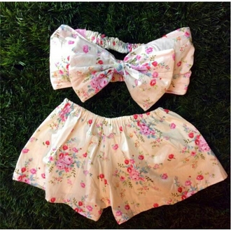 swimwear cherry blossom beach tropical valentines floral