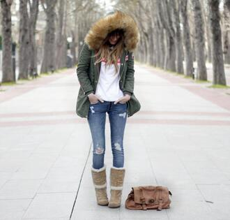 rebel attitude blogger parka winter boots