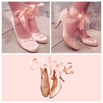 shoes ballet flats ballet pink dress high heels