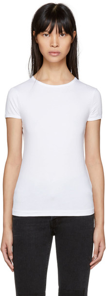 Helmut Lang t-shirt shirt t-shirt baby fit white top