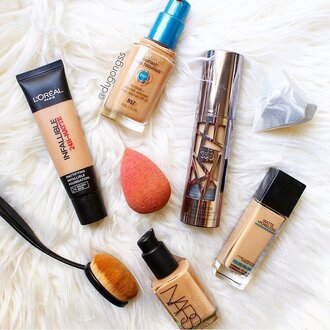 make-up tumblr foundation nars cosmetics loreal paris beauty blender makeup brushes