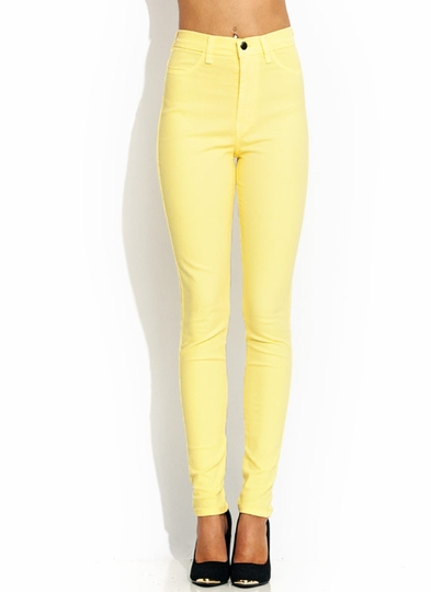 high-waisted-jeans BANANA NEONGREEN NEONORANGE NEONYLLW ROYAL - GoJane.com