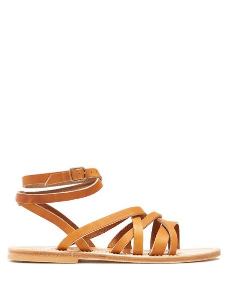 K.jacques sandals leather sandals leather tan shoes