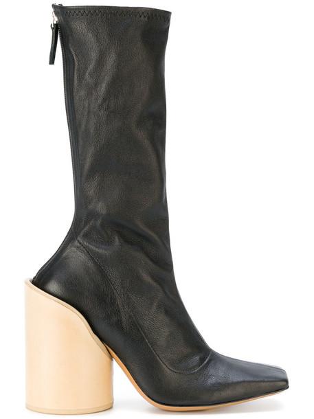Jacquemus women leather black shoes