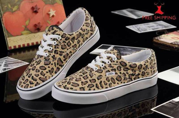 shoes leopard print vans