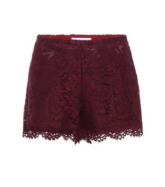 Valentino shorts lace shorts lace red