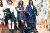 coat,navy,blue,parka,long coat,oversized jacket,vintage