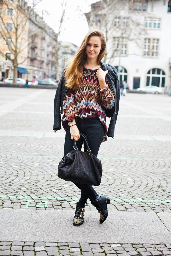 bonsoir cherie sweater shoes jacket bag