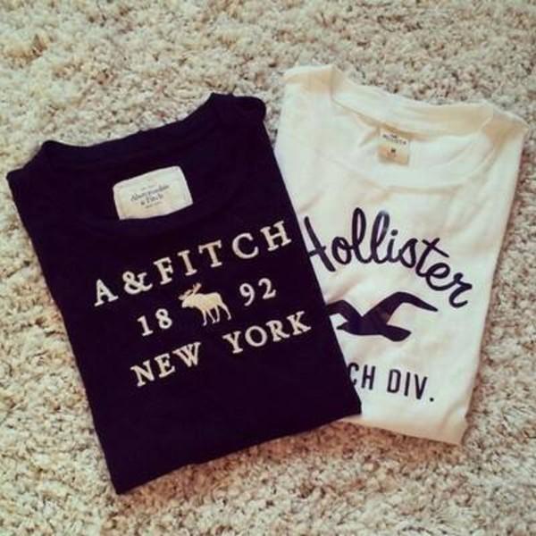 T-shirt, Sweater, Shirt, Hollister, Ambercrombie, Black