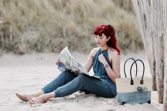 preppy fashionist blogger jumpsuit jewels shoes bag coat sandals basket bag summer outfits