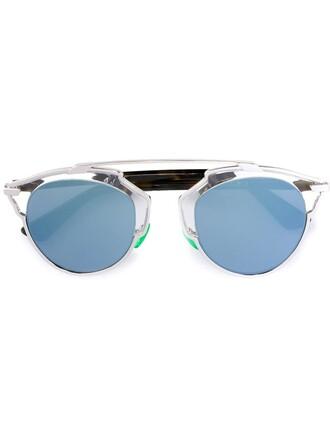 metal women sunglasses grey metallic