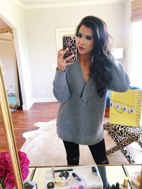 thesweetestthing blogger leggings shoes iphone case grey sweater long sleeves black jeans ripped jeans