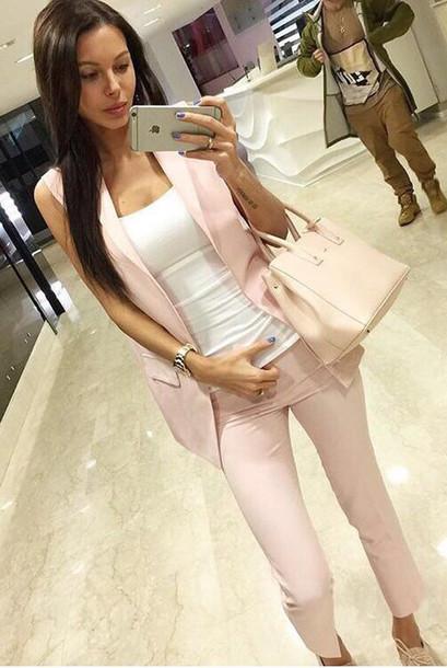5c578b8d77f pants set two piece dress set matching set suit blazer suit top business  casual business casual