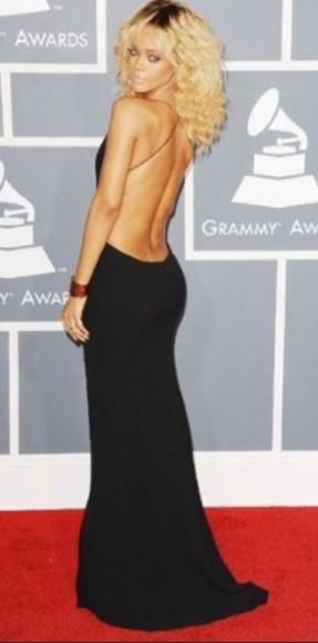 dress backless dress long dress little black dress rihanna
