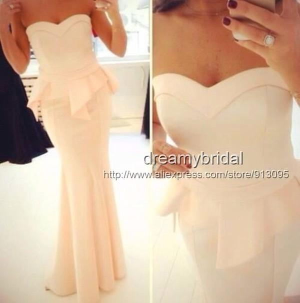 dress evening dress 2014 prom dress evening dress prom dress peach dress long evening dress long evening dress