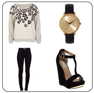 shoes watch wedges gold heels high heels sweater