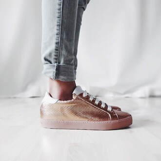 shoes bronze sporty metallic shoes hipster pink sneakers pink shoes metallic sneakers metallic