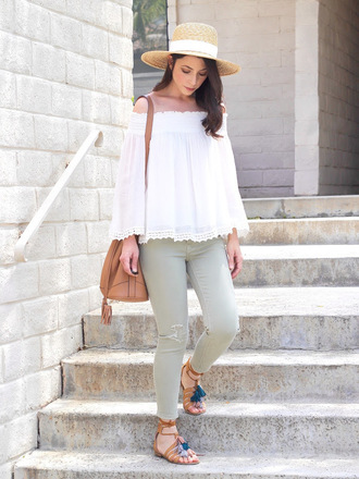 cost with me blogger hat top jeans shoes bag