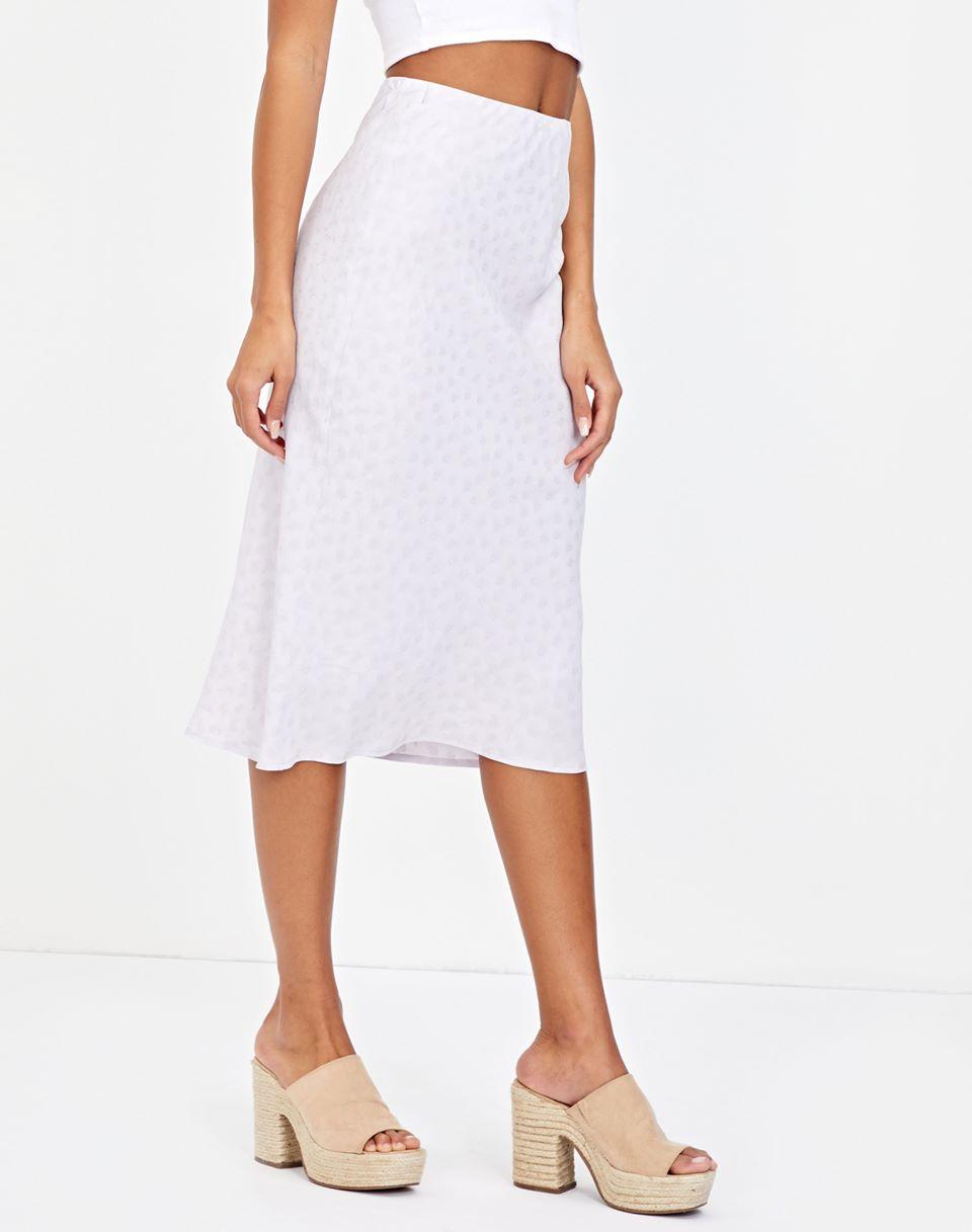 Jacquard Floral Midi Skirt