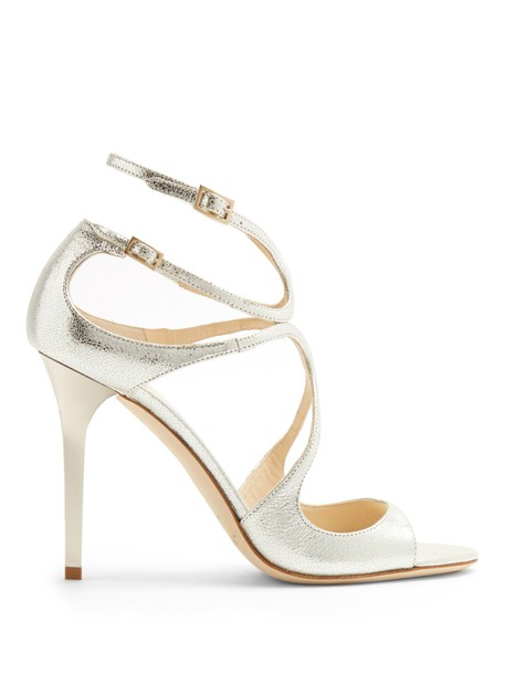 Jimmy Choo glitter sandals silver shoes