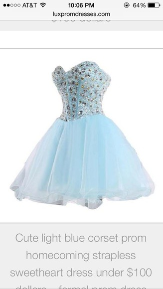 corset light blue diamonds bedazzle strapless