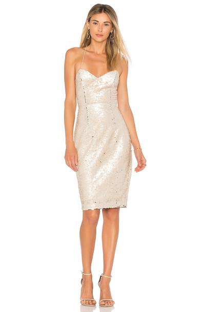 ASTR dress metallic gold