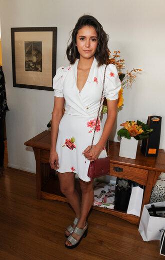 shoes dress sandals plunge dress floral dress summer outfits summer dress mini dress