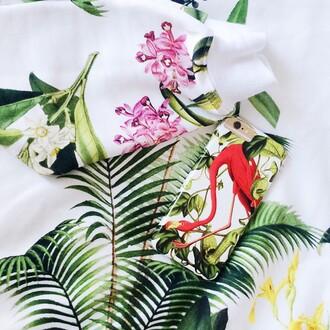 blouse yeah bunny palms tropical tee sweatshirt