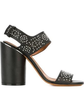 edgy sandals black shoes