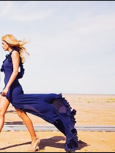 dress gossip girl serena van der woodsen blue dress