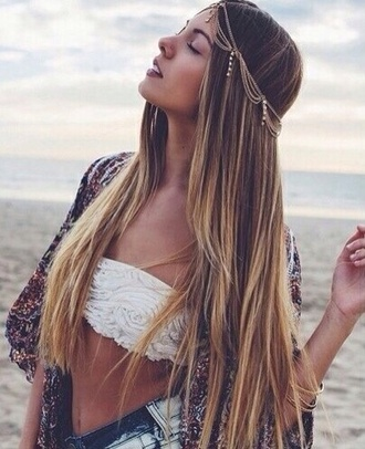 hair accessory gold gold sequins gold hair jewelry gold hair chain gold hair band gold jewelry gold chain boho boho chic bohemian summer outfits sommer summer crush hippie