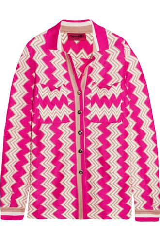 shirt knit shirt knit pink crochet top